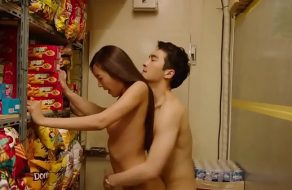 Horny blonde beauty Andrea Parker banged hard in Threesome